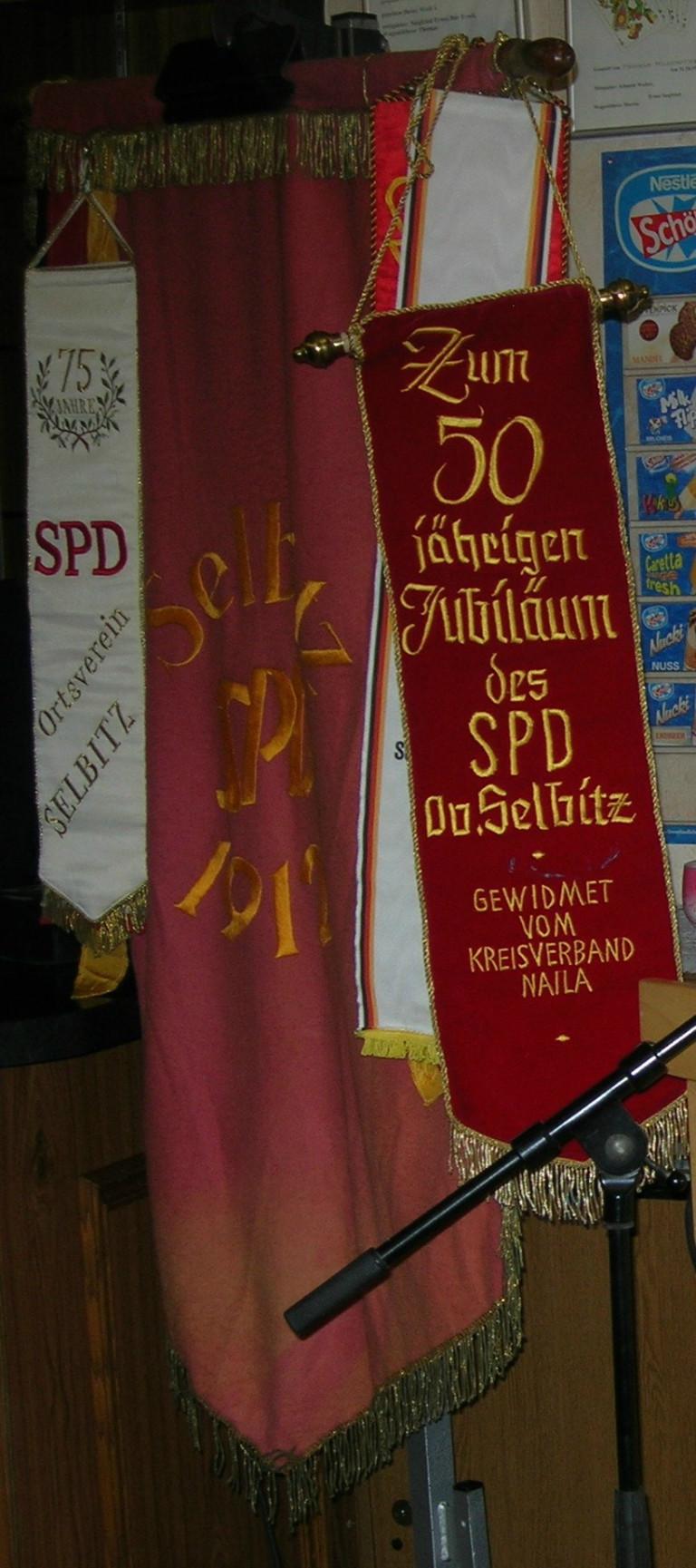 Gründungsfahne SPD OV Selbitz